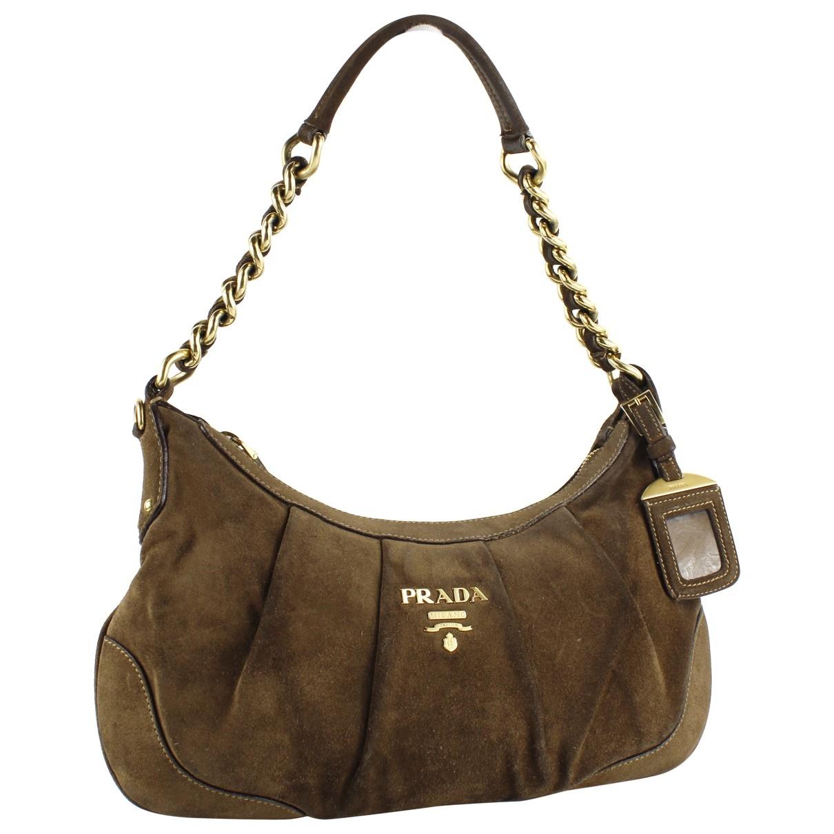 Prada \N Handtasche in  Braun Veloursleder