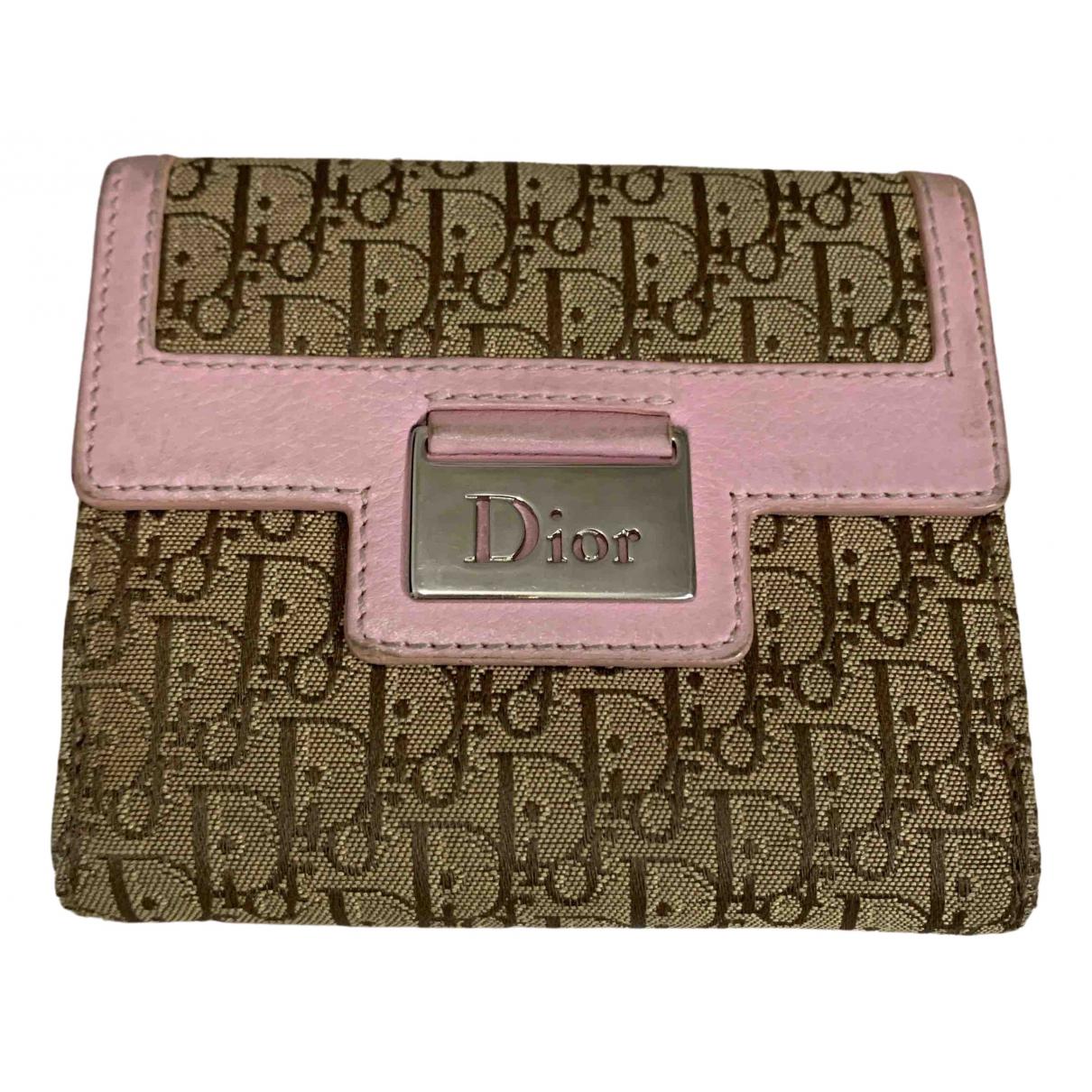 Dior \N Pink Cloth wallet for Women \N