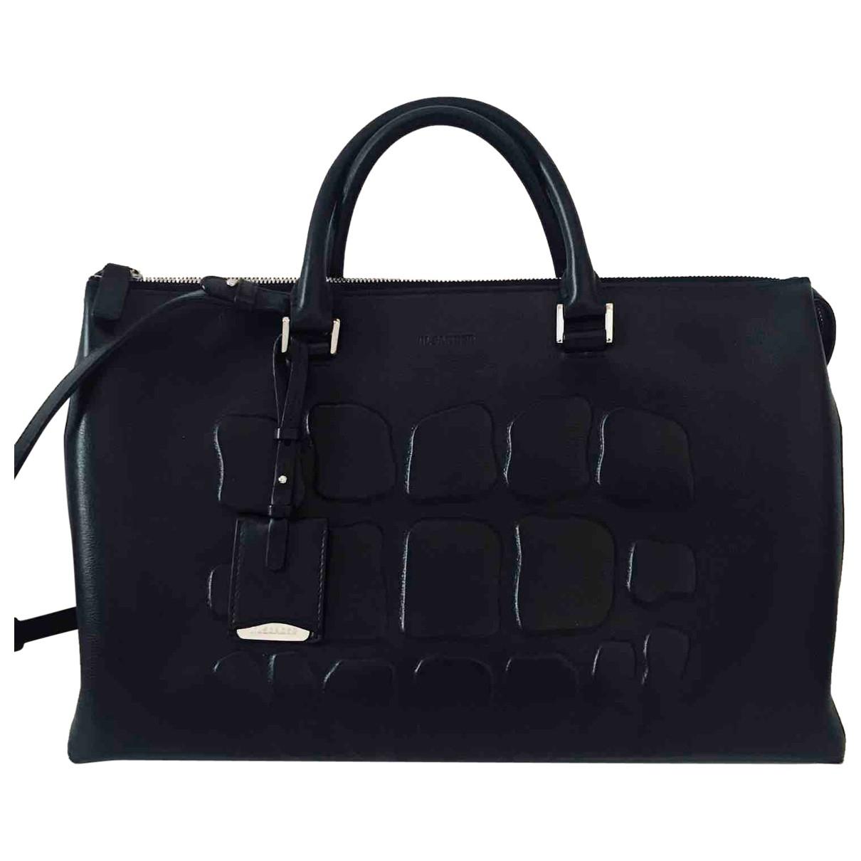 Jil Sander \N Handtasche in  Schwarz Leder