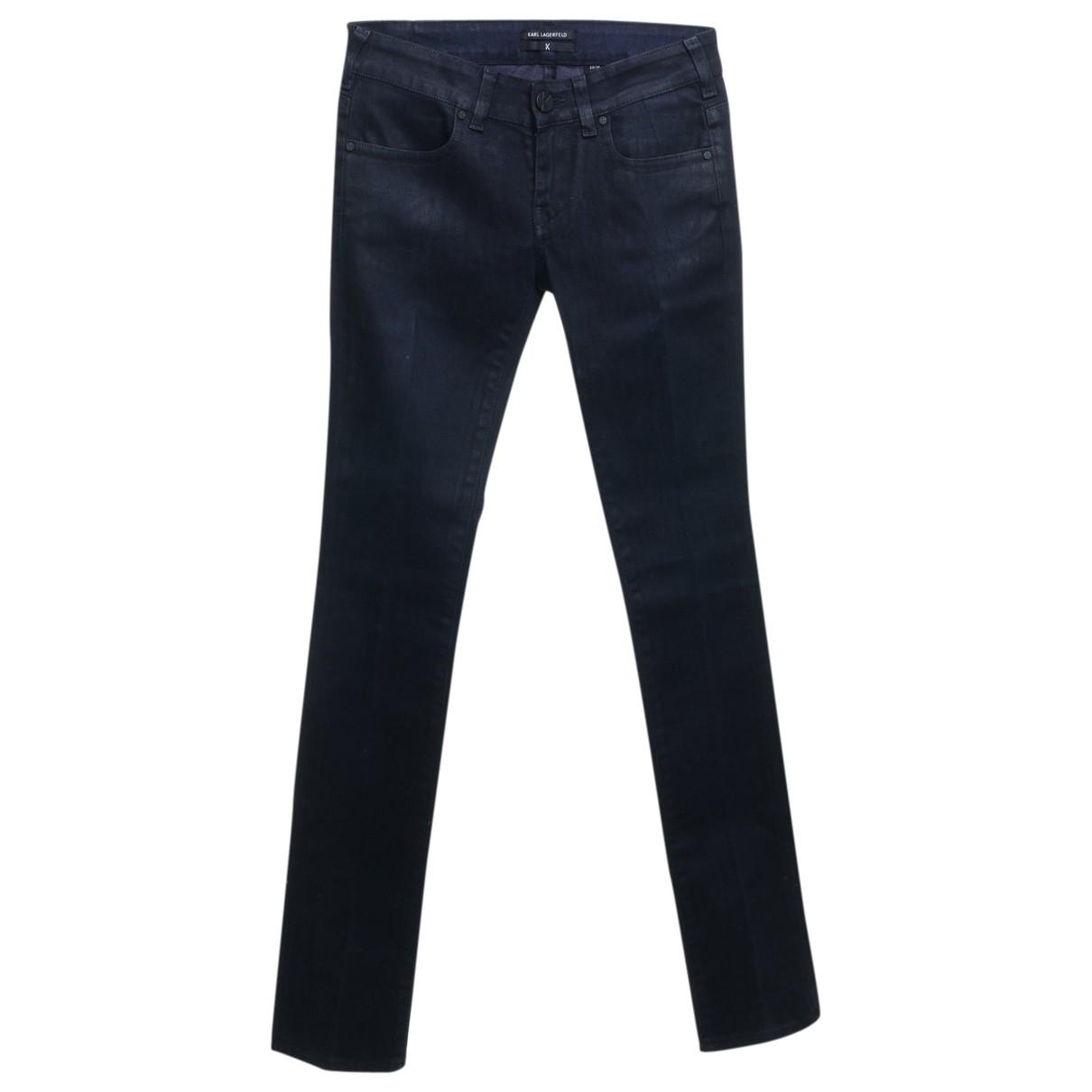 Karl Lagerfeld \N Blue Cotton - elasthane Jeans for Women 29 US