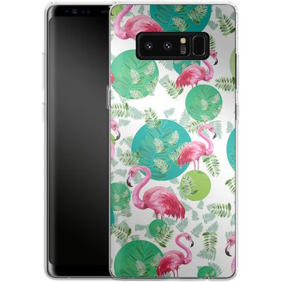 Samsung Galaxy Note 8 Silikon Handyhuelle - Flamingo Land von Mukta Lata Barua