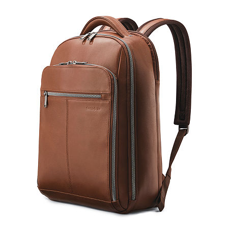 Samsonite Classic Business Leather Backpack, One Size , Brown