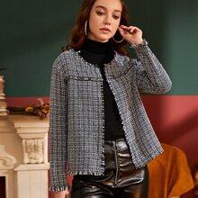 Tweed Raw Trim Jacket