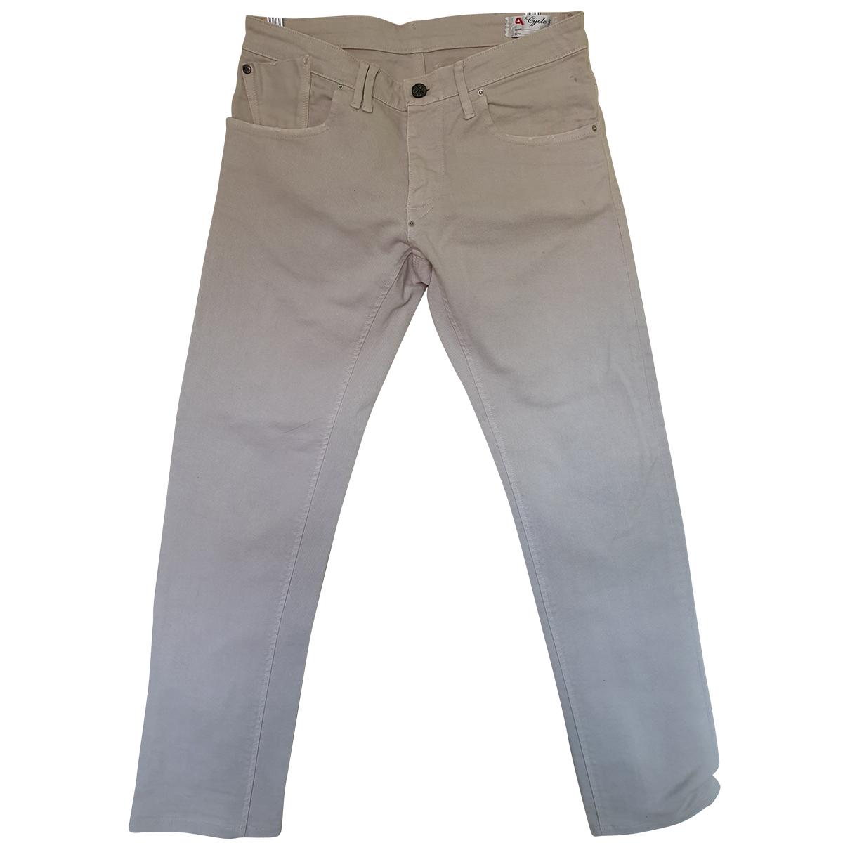 Pantalones en Algodon Beige Cycle