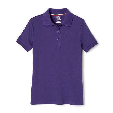French Toast Little Girls Short Sleeve Polo Shirt, Small , Purple