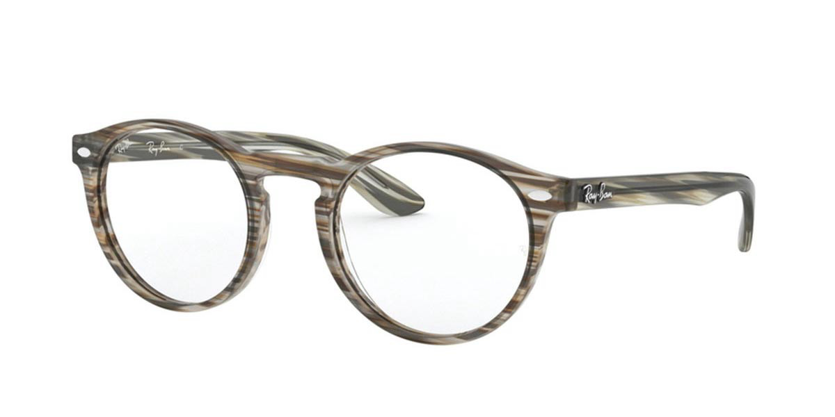 Ray-Ban RX5283 Icons 5751 Men's Glasses Brown Size 51 - HSA/FSA Insurance - Blue Light Block Available