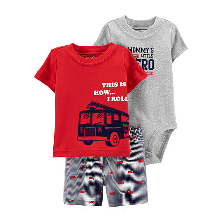 Carter's Baby Boys 3-pc. Short Set, 9 Months , Red