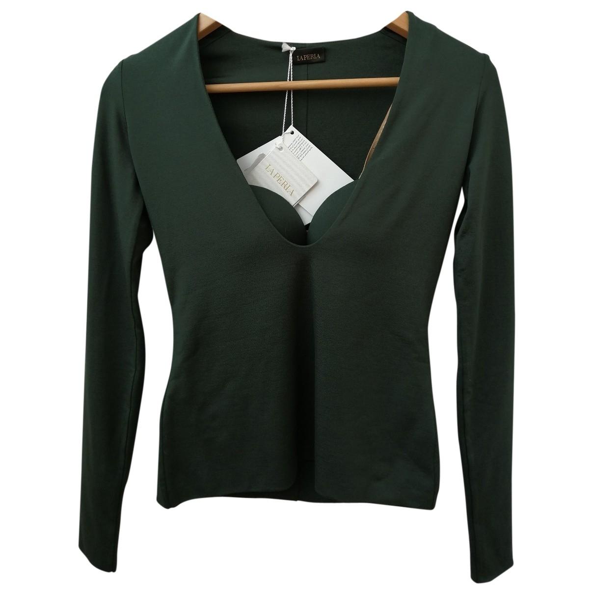 La Perla - Top   pour femme en soie - vert