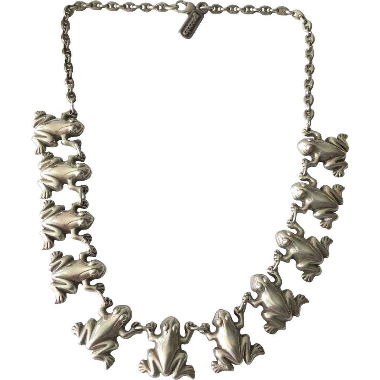 Non Signe / Unsigned Motifs Animaliers Kette in  Silber Metall