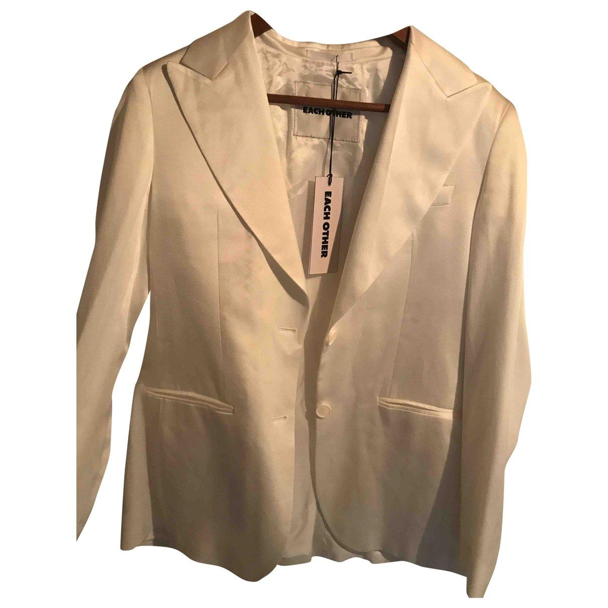 Each X \N White jacket for Women 36 FR