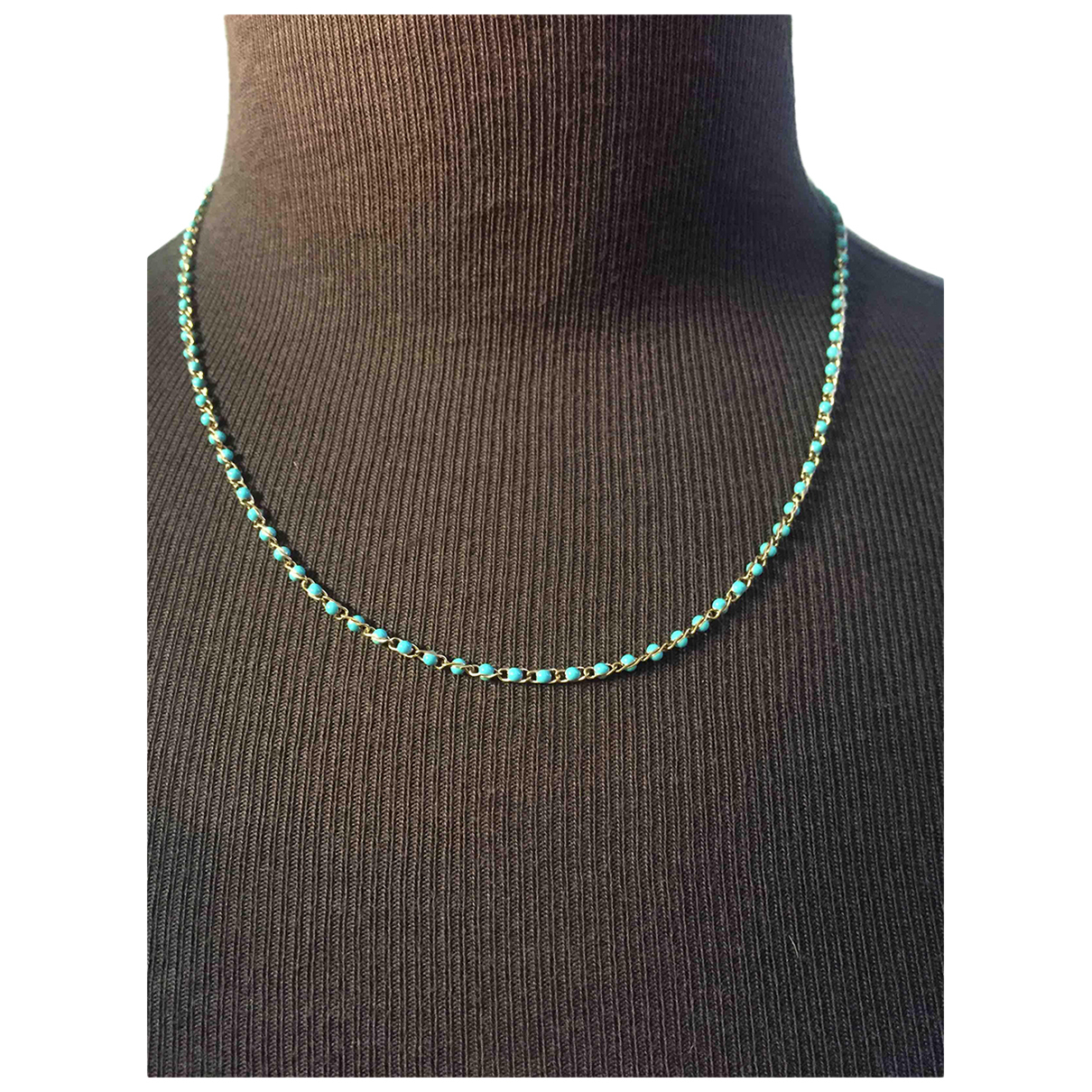 Non Signé / Unsigned N Green Steel necklace for Women N