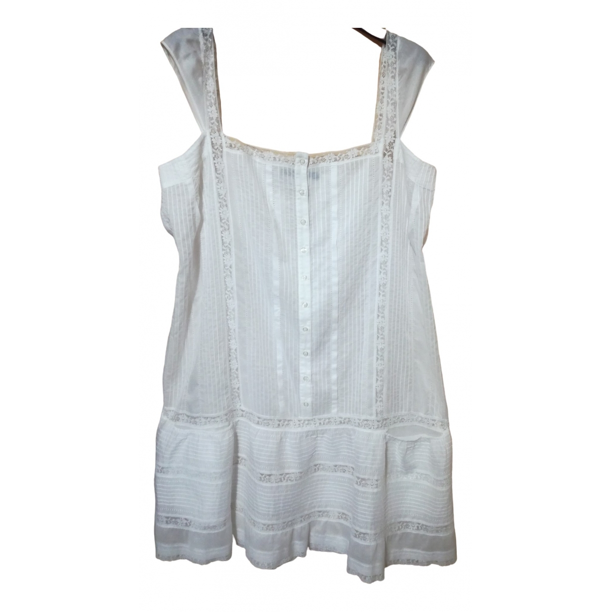 Non Signé / Unsigned \N White Cotton dress for Women One Size International