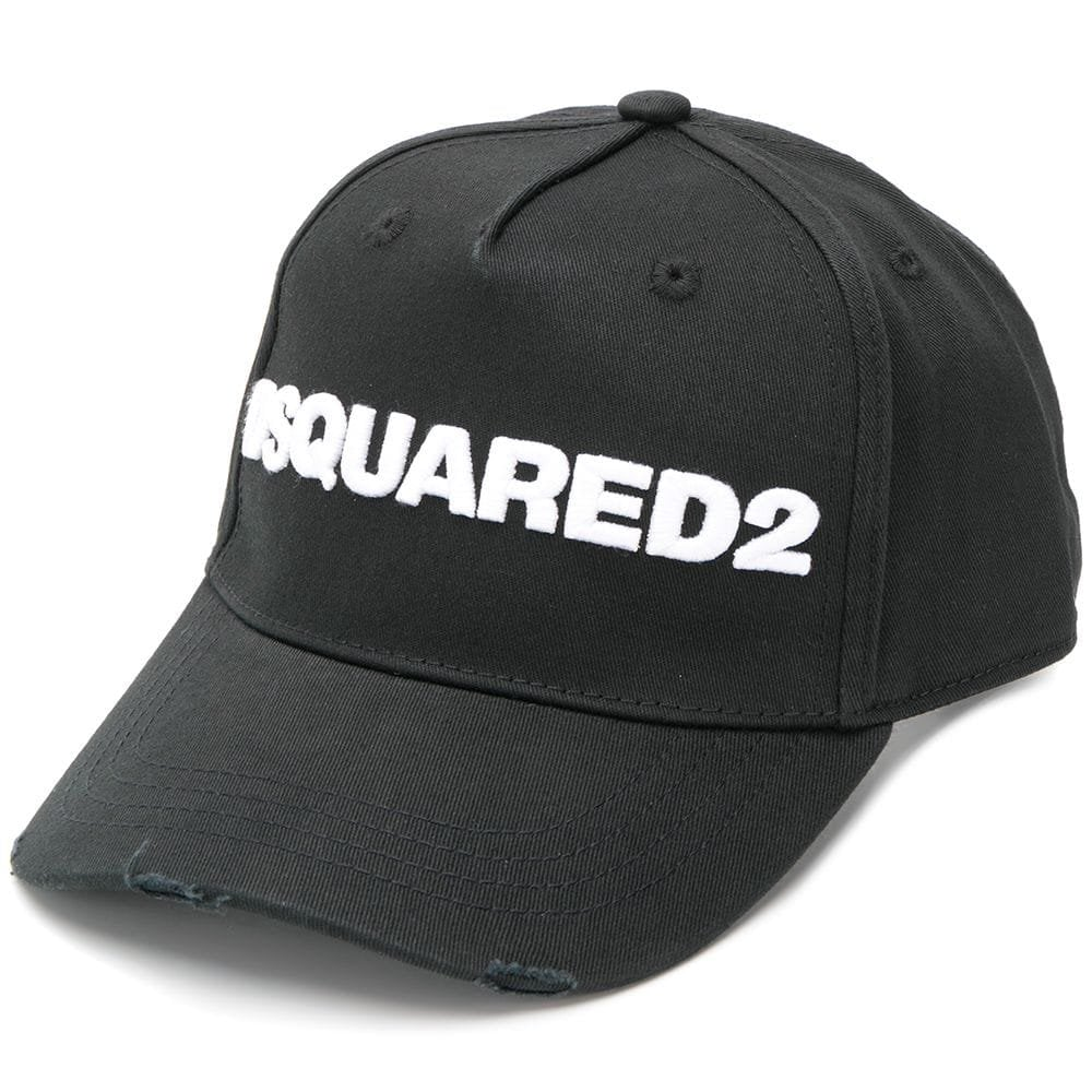 Dsquared2 Classic Embroidered Logo Cap Black Colour: BLACK, Size: ONE SIZE