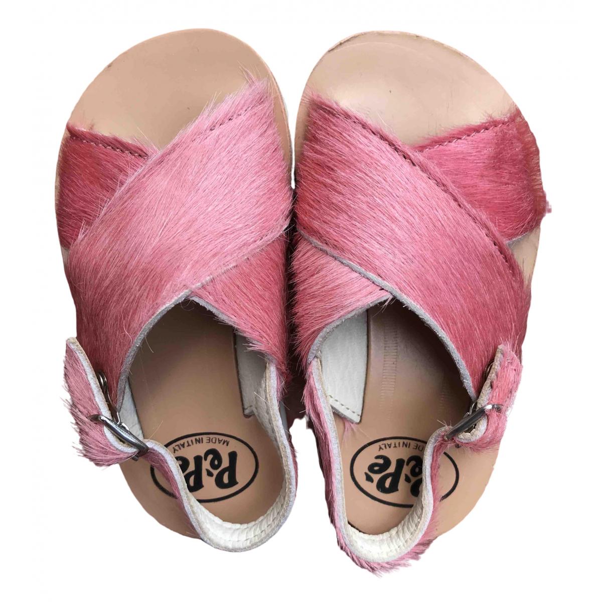 Pepe Children Shoes \N Sandalen in  Rosa Leder