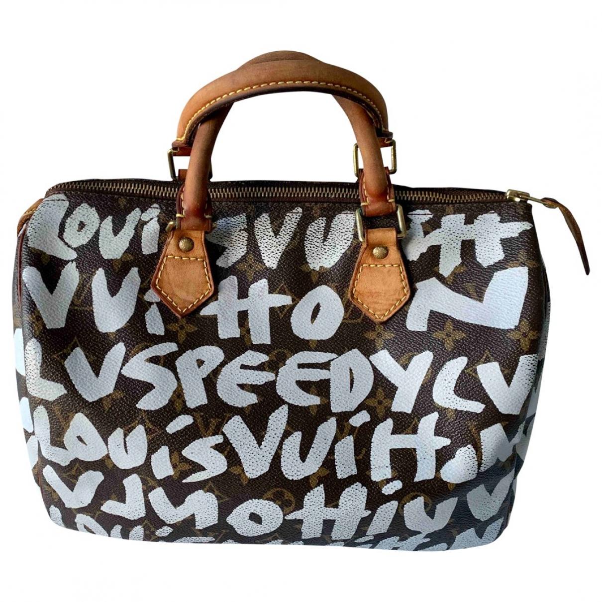 Louis Vuitton - Sac a main Speedy pour femme en toile
