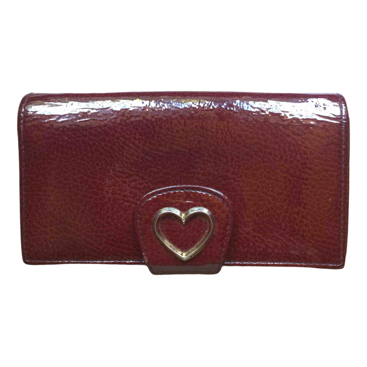 Furla \N Burgundy Patent leather wallet for Women \N