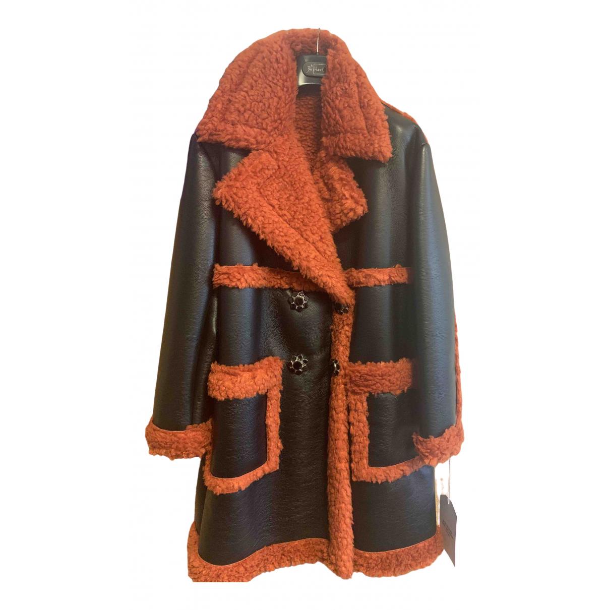 De Hart \N Black Faux fur coat for Women 42 IT