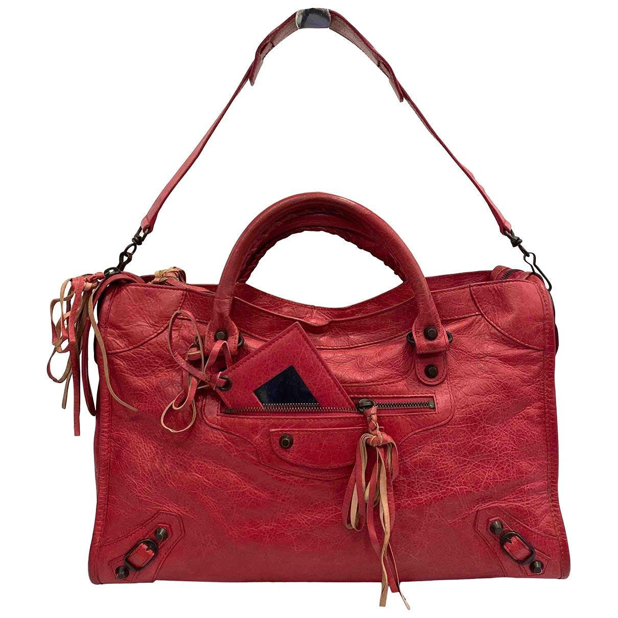 Balenciaga - Sac a main City pour femme en cuir - rouge