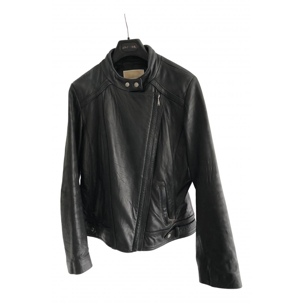 Michael Kors - Veste   pour femme en cuir - noir