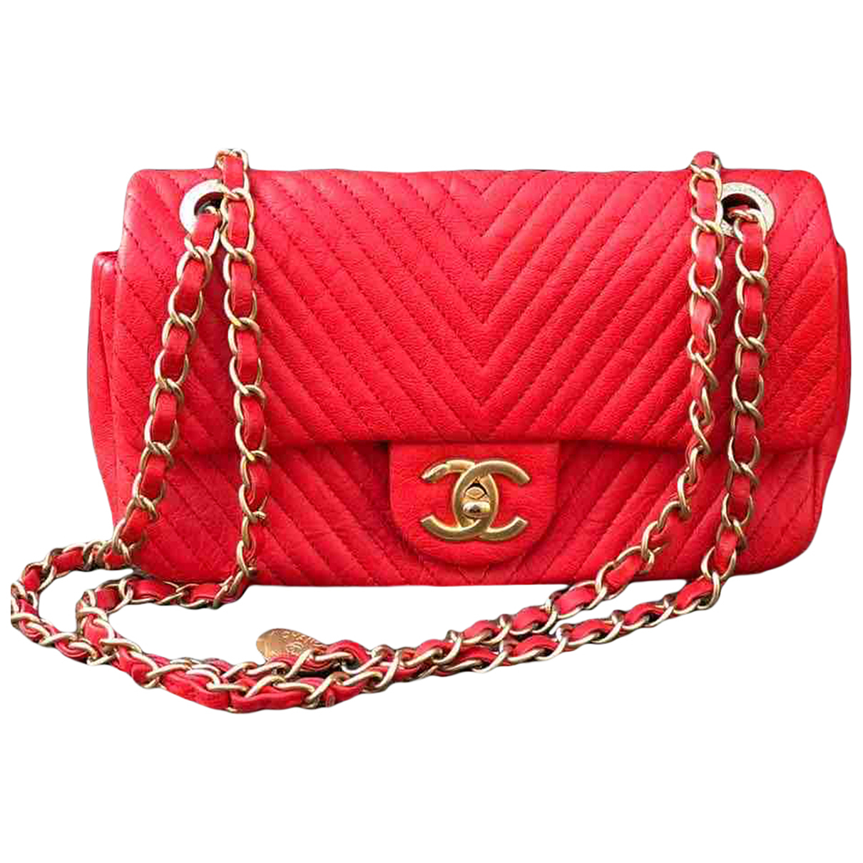 Chanel Timeless/Classique Red Leather handbag for Women \N