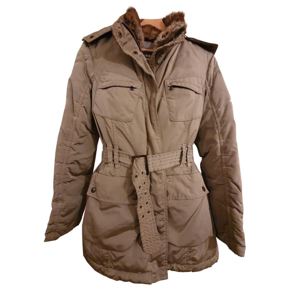 Non Signé / Unsigned \N Khaki coat for Women 38 FR