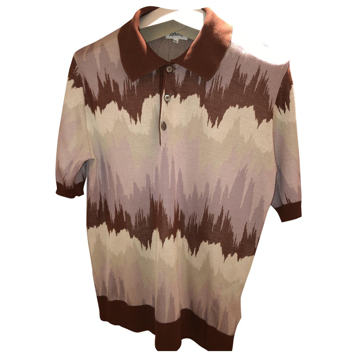 Brioni N Multicolour Silk Polo shirts for Men 50 IT