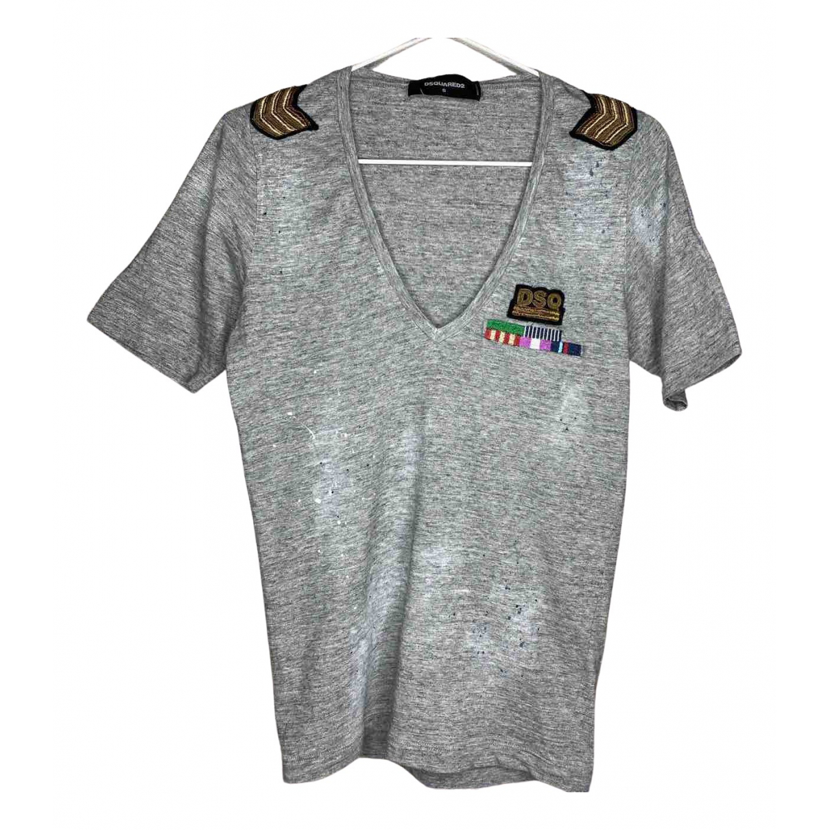 Dsquared2 \N Grey Cotton  top for Women S International