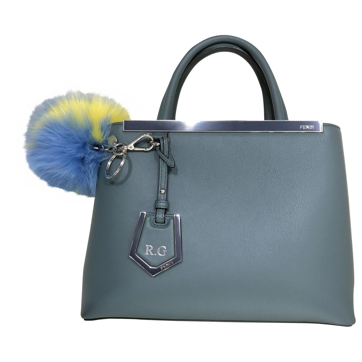 Fendi 2Jours Green Leather handbag for Women \N