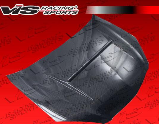 VIS Racing 02ACRSX2DN1-010C N 1 Style Black Carbon Fiber Hood Acura RSX 02-06