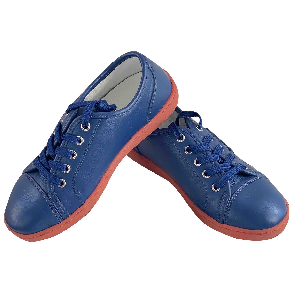 Dolce & Gabbana - Baskets   pour enfant en cuir - bleu