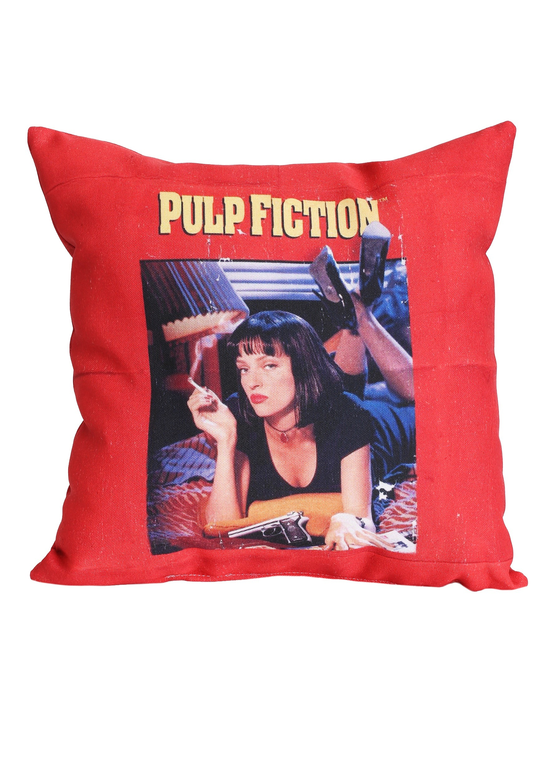 Mia Wallace Pulp Fiction Movie Poster Throw Pillow