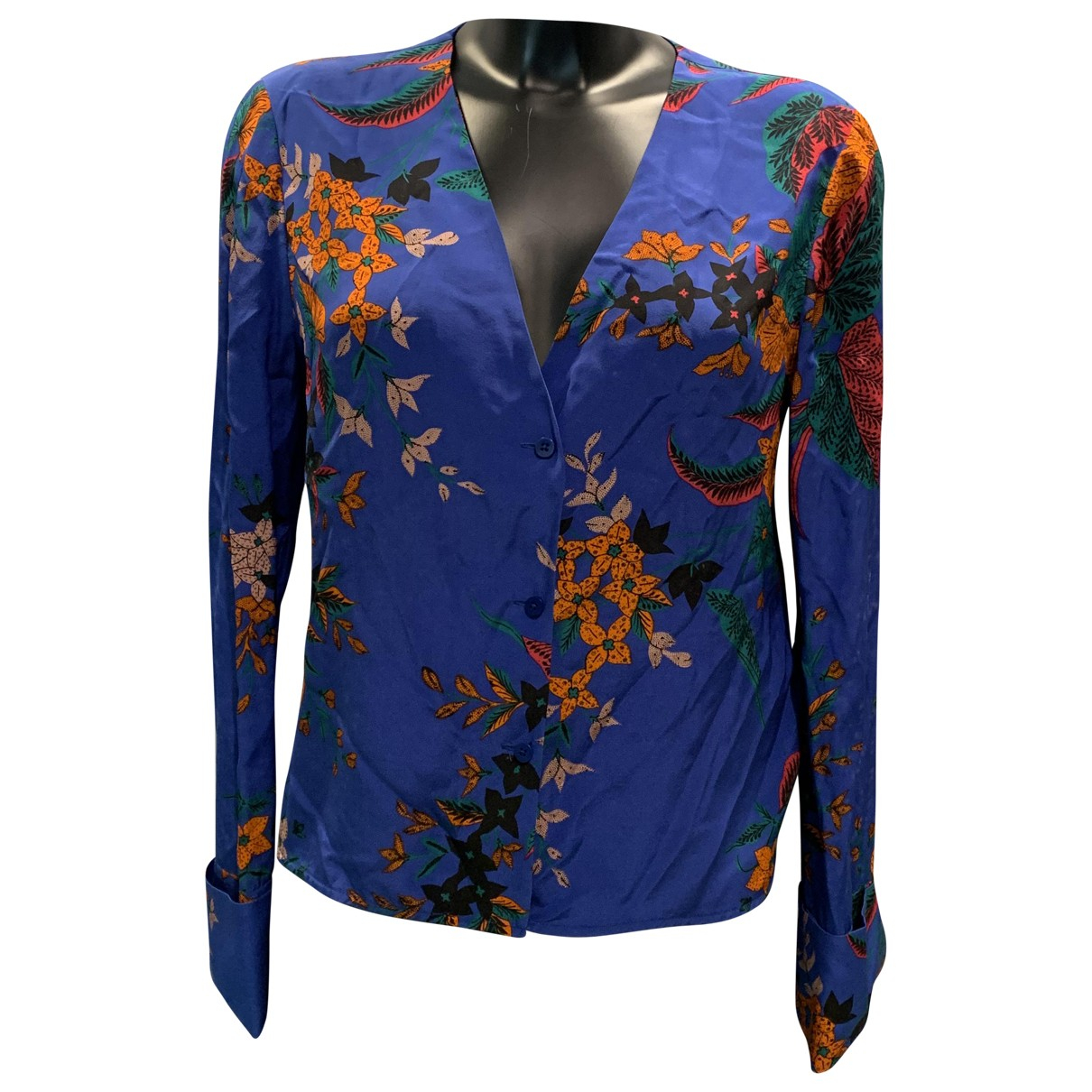 Diane Von Furstenberg \N Blue Silk  top for Women 10 UK