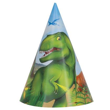 Dinosaur Party Hats, 8ct Pour la fête d'anniversaire