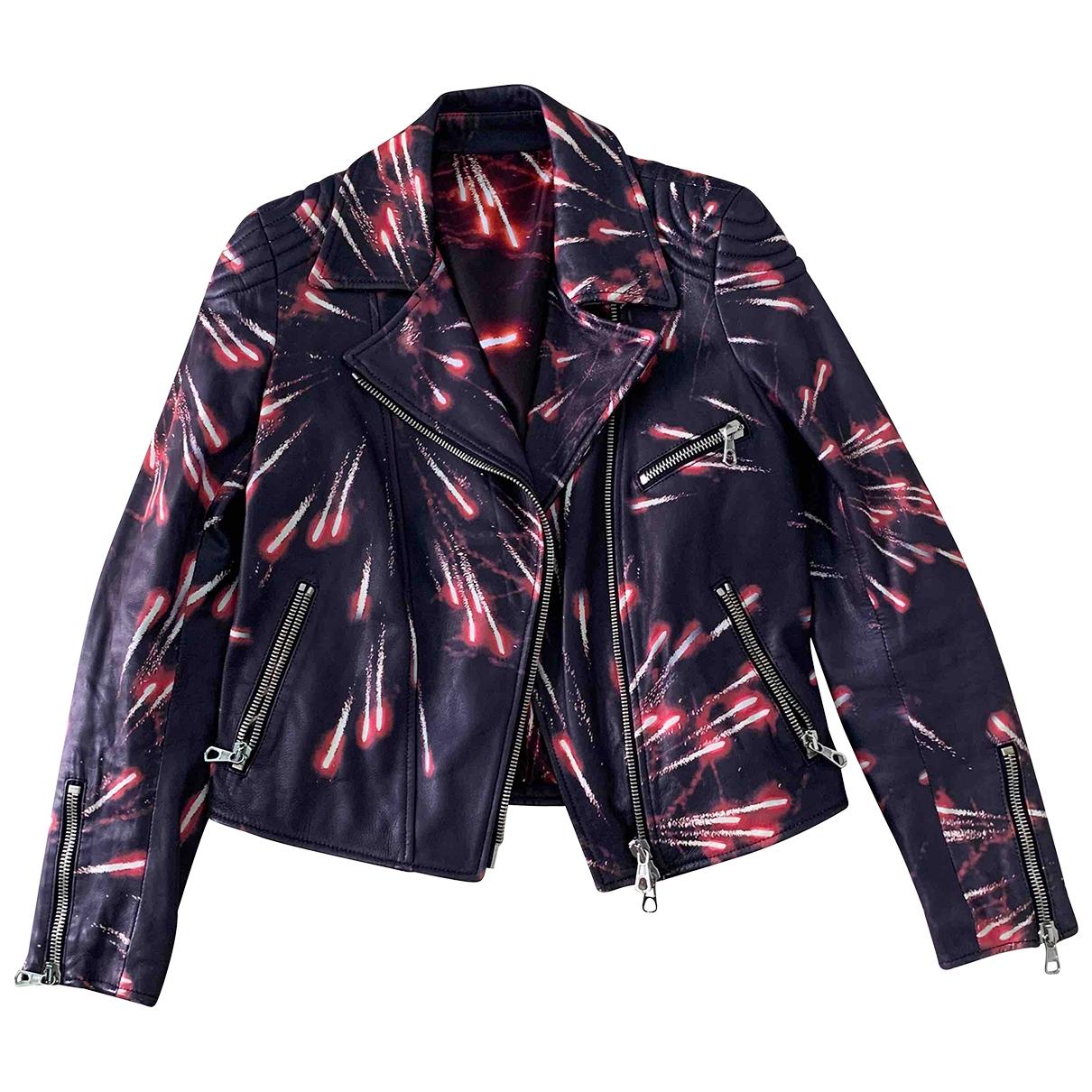 Msgm - Veste   pour femme en cuir - noir