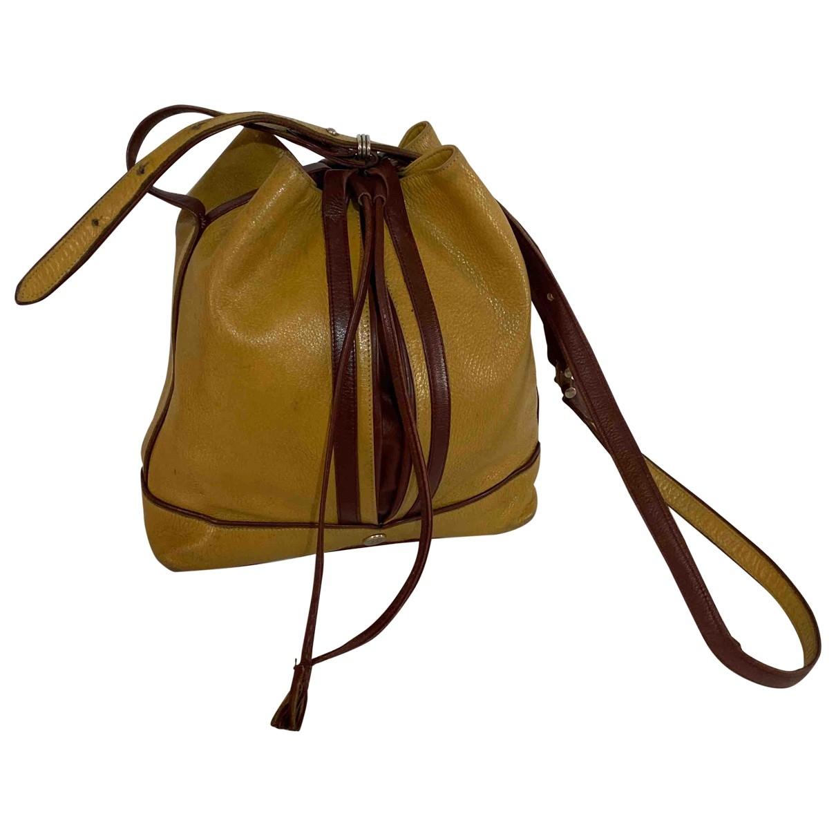 Cartier - Sac a main   pour femme en cuir - camel