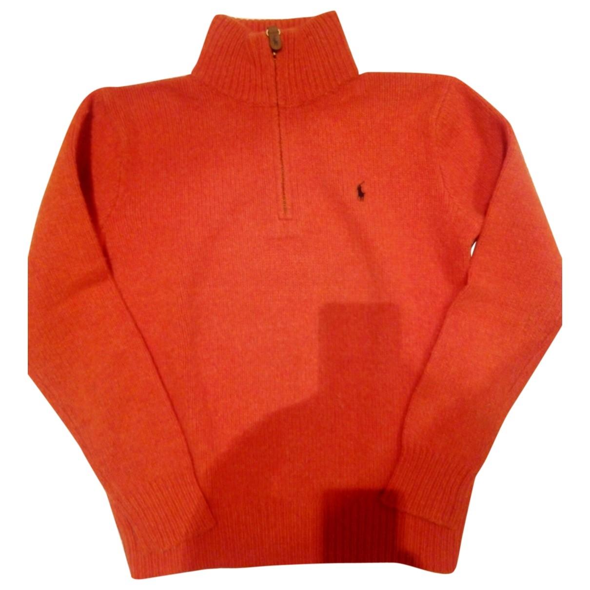 Polo Ralph Lauren \N Pullover, StrickJacke in  Orange Wolle
