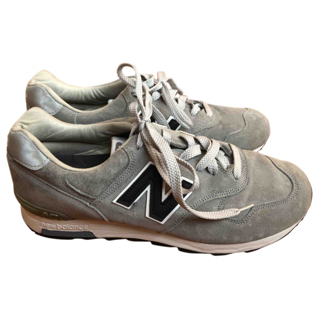 New Balance \N Grey Suede Trainers for Men 45.5 EU