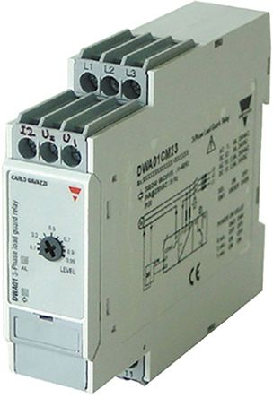 Carlo Gavazzi Power Factor Cosf Monitoring Relay With SPDT Contacts, 380 → 480 V ac Supply Voltage, 3 Phase