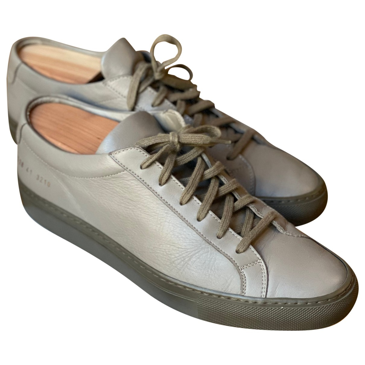 Common Projects \N Sneakers in  Grau Leder