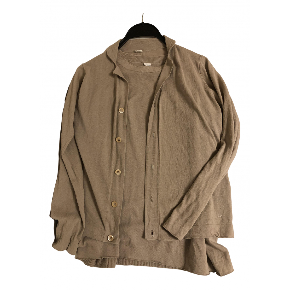 45rpm - Pull   pour femme en coton - beige
