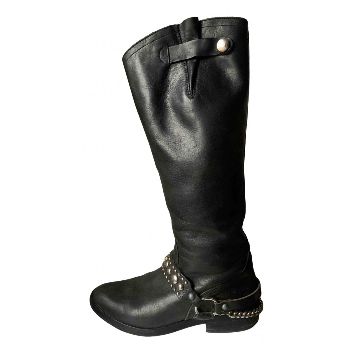 Golden Goose - Bottes   pour femme en cuir - noir