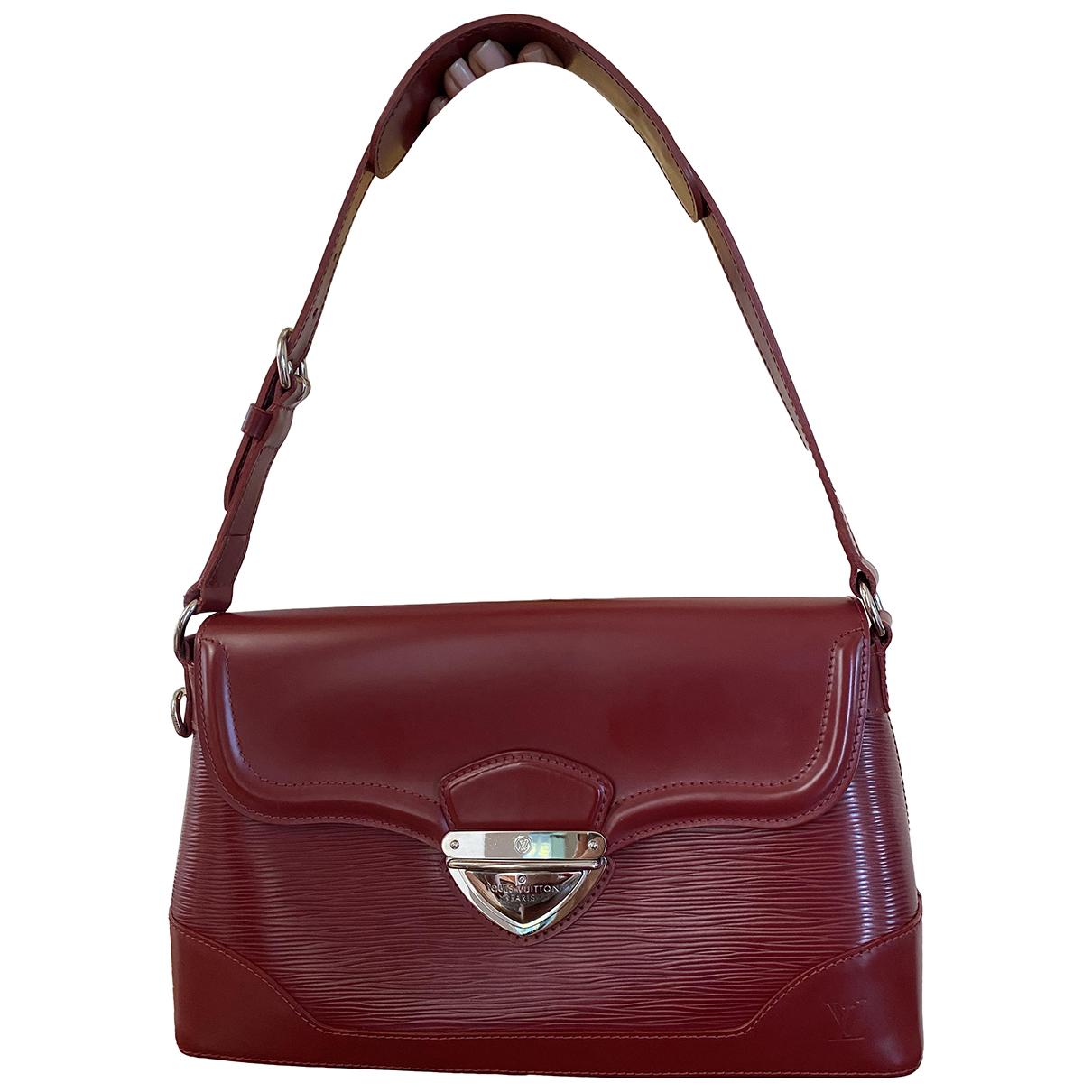 Louis Vuitton \N Handtasche in  Bordeauxrot Leder