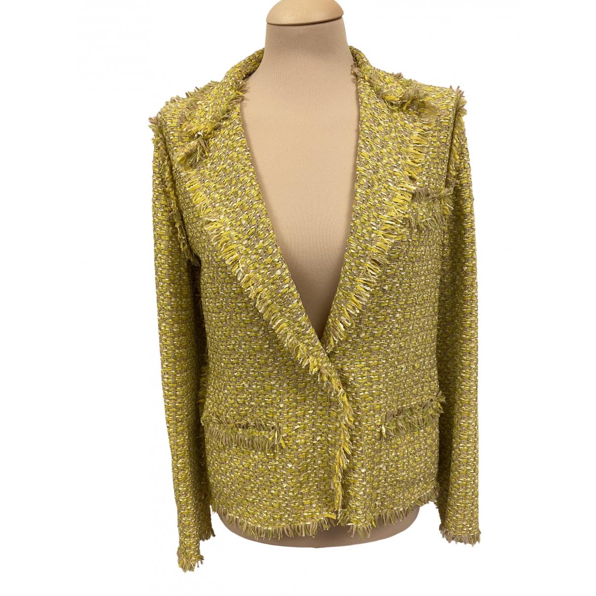 Lanvin - Veste   pour femme en coton - jaune