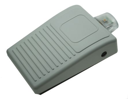 Herga Light Duty Wireless Foot Switch - Thermoplastic Case Material, 100 mA Contact Current, Grey