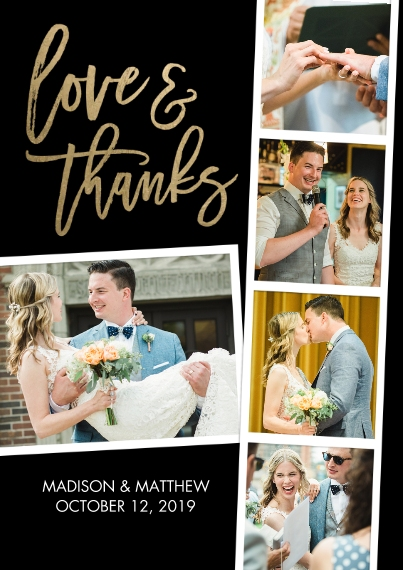 Wedding Thank You 5x7 Cards, Premium Cardstock 120lb, Card & Stationery -Thank You Filmstrip