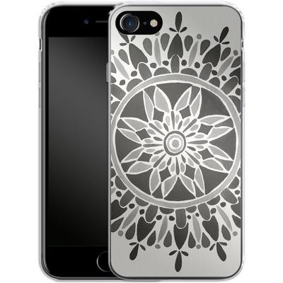 Apple iPhone 7 Silikon Handyhuelle - Mandala Black von Cat Coquillette