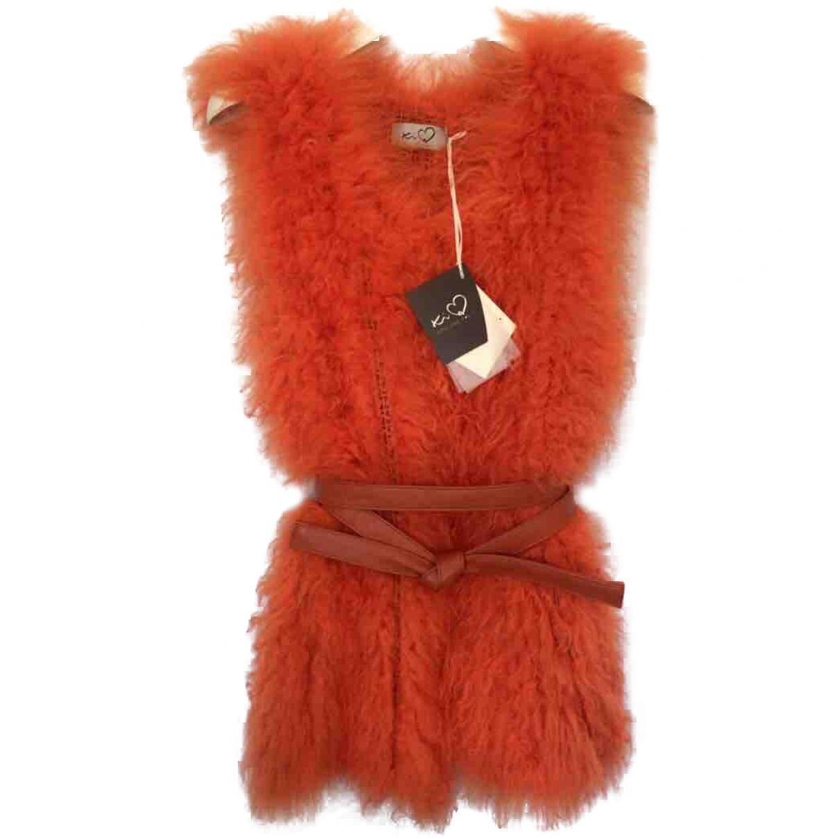 Non Signé / Unsigned \N Orange Wool jacket for Women One Size IT