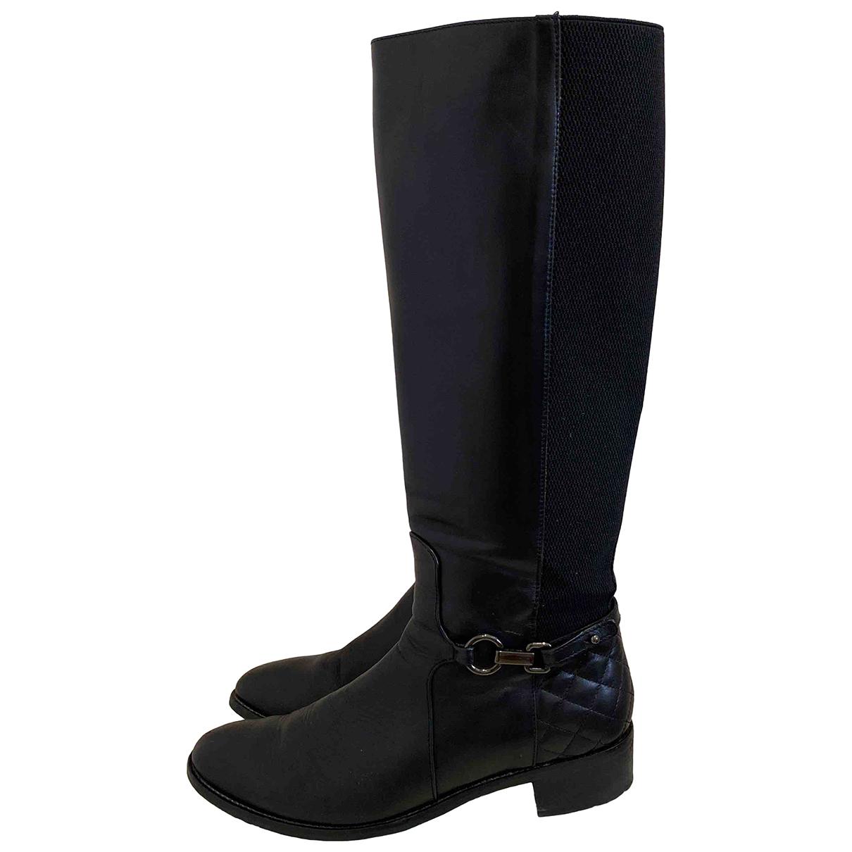 Aquatalia - Bottes   pour femme en cuir - noir
