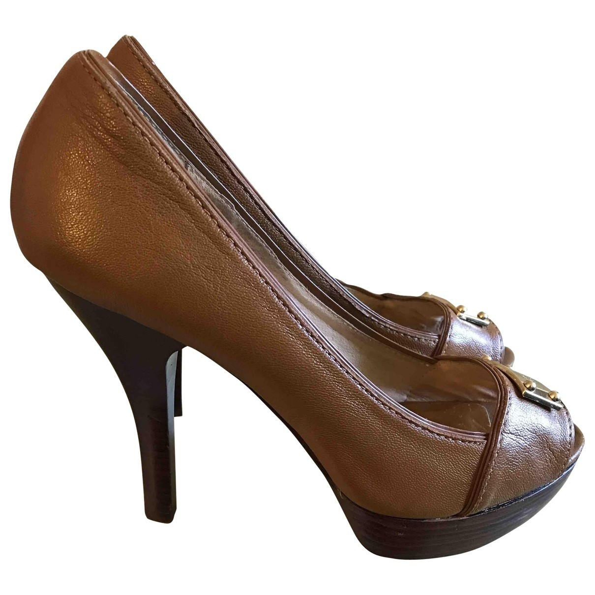 Michael Kors \N Brown Leather Heels for Women 40 EU