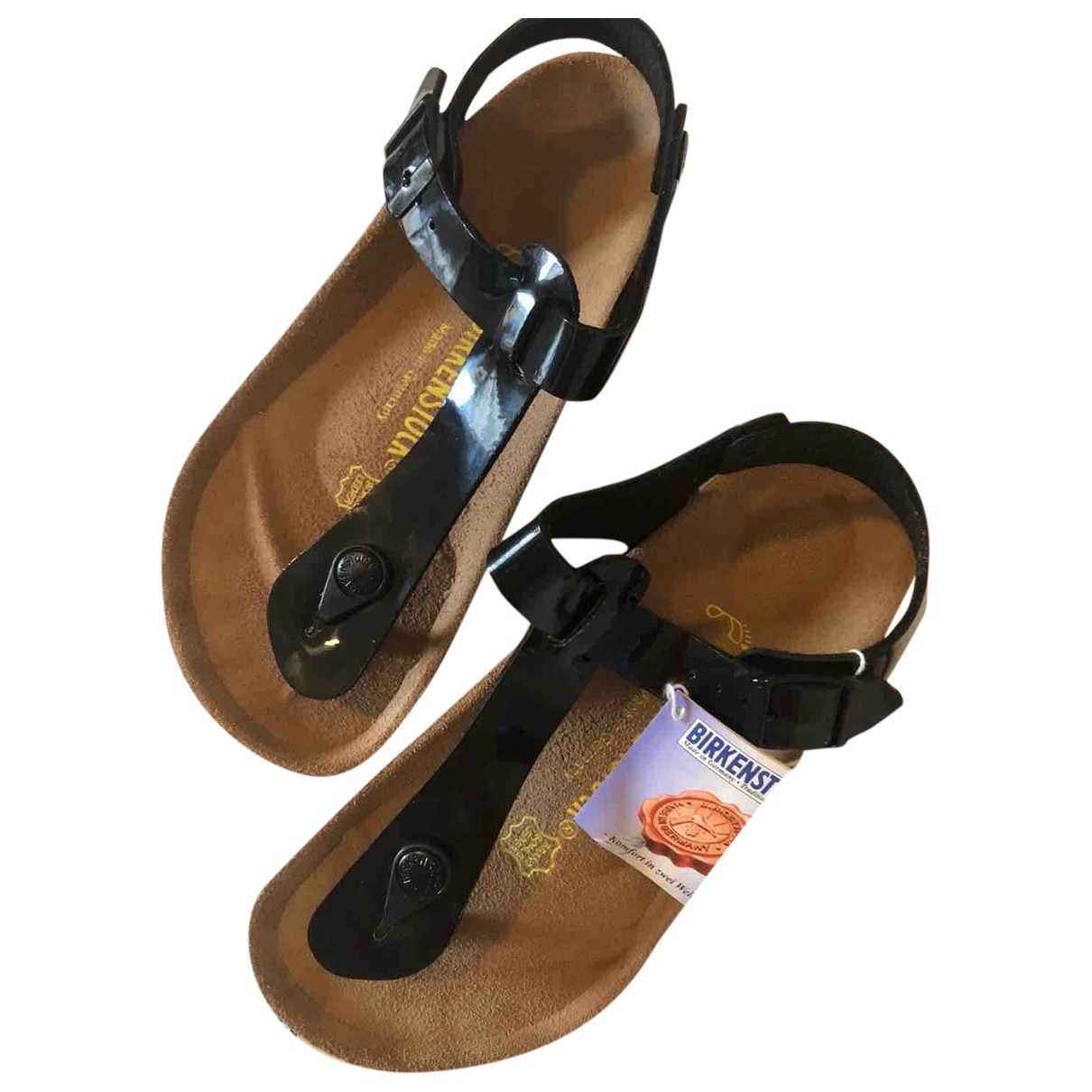 Birkenstock \N Sandalen in  Schwarz Lackleder